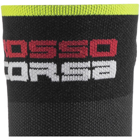 Castelli Rossocorsa 9 Socks, black/yellow fluo